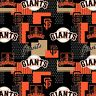 MLB San Francisco Giants Major League Baseball Black Cotton Fabric BTY 545