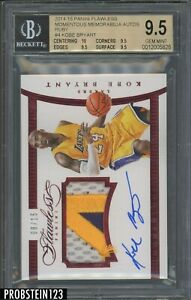 2014-15 Flawless Ruby Kobe Bryant 3-Color GU Patch AUTO JERSEY# 8/15 BGS 9.5