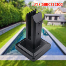 More details for floor standing stairs spigots square balcony glass post balustrade railing clamp