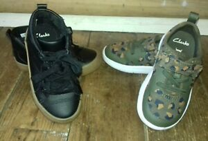 Boy's Clarks Shoe/Boot/Trainer X2 Pairs Size 8G