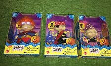 RARE Lot 3 New RUGRATS Collectible FIGURES Dolls HALLOWEEN Costumes 1998 Phil +