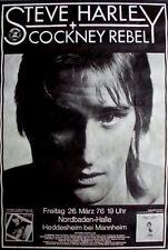 Harley, steve - 1976-concert affiche-théâtreux rebel-tourposter-Mannheim