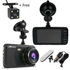 Car DVR Dash Camera Dual Lens Front Rear Video Recorder HD 1080p G-Sensor Black