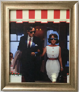 Lunchtime Lovers by Jack Vettriano Framed Canvas Effect Print 51cm x 43cm