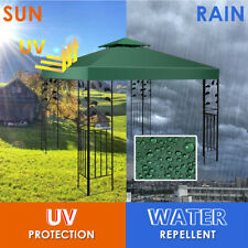 3x3m Garden Gazebo Top Cover Roof Replacement Fabric Tent Canopy 2-Tier  G D