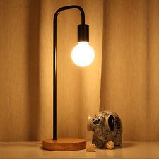 Modern Style Bedside Table Lamp Desk Light Wooden Base Home Cafe Bedroom Decor