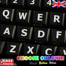 English US LARGE LETTER Non-Transparent Keyboard Stickers Laptop PC 4 Colours