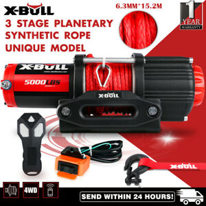 X-BULL 5000LBS/2268KGS Electric Winch Synthetic Rope Wireless Roof Rack UTV 12V