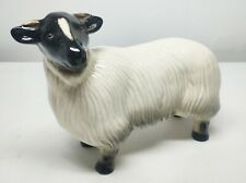More details for coopercraft made in england ceramic ewe black face young sheep large 19cm x 15cm
