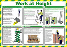 Click Medical Work At Height Fall Arrest UK Health and Safety A2 Size Poster New