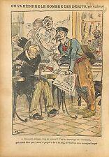 Caricature Politique Anti Cléricale Bistro Socialiste Radicale 1911 ILLUSTRATION