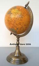 """Political 8"""" World Globe Metal Base Vintage Desktop Antique Finish Home Decor"""