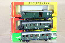 FLEISCHMANN 1554 1555 1556 Rastrillo de 3 DB LOCAL pasajeros Coach Ulm MINT EN