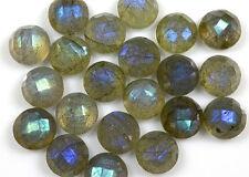 AAA Quality 15 Piece Natural Labradorite 10x10 mm round rose cut Loose Gemstone