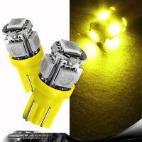 2x PCS Xenon Yellow Amber SMD LED Car Side Ligh Bulb T10 501 W5W Indicator/Turn