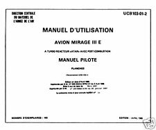 DASSAULT MIRAGE  IIIE - MANUEL D'UTILISATION UCB-103-01