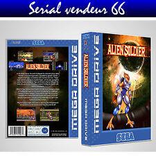 """Boitier du jeu """" ALIEN SOLDIER """", Sega Megadrive, PAL ANGLAIS. HD. SANS LE JEU."""