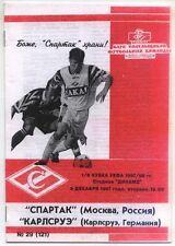 UEFA - EC III 97/98 Spartak Moscow - Karlsruher SC, 09.12.1997, B