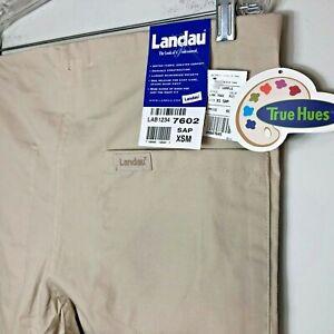 NWT Landau True Hues 7602 Sandstone Unisex Scrub Pants Men Women Reversible Dra.