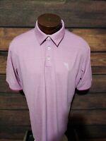 Adidas Golf Mens Large Purple White Striped Short Sleeve Golf Polo Shirt NWOT