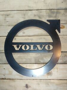 *Premium* VOLVO LORRY Logo Metal Sign Hand Finished Wall VINTAGE GARAGE V8 truck