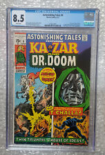 🔑🔑 Astonishing Tales 6 💥 FIRST Dr DOOM VS Black Panther 🔥🔥 8.5 VF+ CGC 🔥🔥