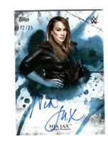 WWE Nia Jax 2018 Topps Undisputed Blue On Card Autograph SN 12 of 25