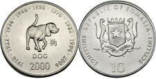 elf Somalia Republic 10 Shilling 2000 Zodiac Dog