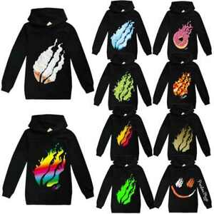 HOT boys Pstonplayz Pizza Flame Hoodies girs Sweatshirt Tracksuit Pullover Top