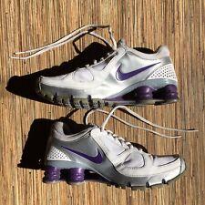 Nike Shox NZ Turbo 10 2010 Womens 7.5 Metallic Silver White Purple