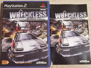 Wreckless Missions Yakuza sony PS2 PLAYSTATION 2 Schlank
