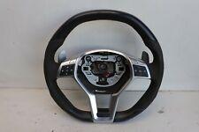 Mercedes Benz CLA45 AMG C117 2014 Black Leather Red Stitch Steering Wheel J149