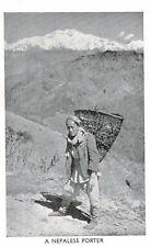 Nepal,Tibet,India,A Nepalese Porter,Ethnic,c.1950s