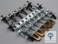 Unterfahrschutz Motorschutz Unterboden Einbausatz Clips Set BMW 3er E46