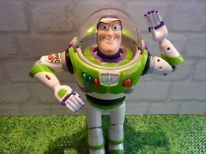 Toy Story Large Vintage Buzz Posable Figure / Room Guard With 35 Phrases