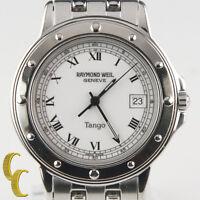 Raymond Weil Stainless Steel Geneve Tango Quartz Watch w/ Date Feature 5560
