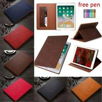 For Apple iPad Mini Air Pro 9.7 5th 6th 10.5 Thin PU Leather Smart Case Cover
