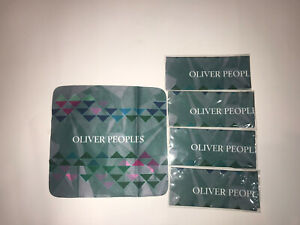 4 Pack Of Green Oliver Peoples Cleaning Cloth, New In Plastic