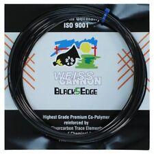 Weiss Cannon Black5Edge Tennis String - 1.24mm / 17G - Black - 12m