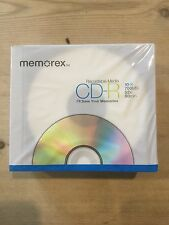 CD-R 10 CD's And Cases Recordable Media 700MB 52x80min
