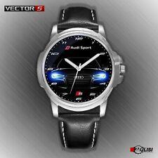 Orologio da polso Audi Sport con fari a led S Line in acciaio cinturino di pelle