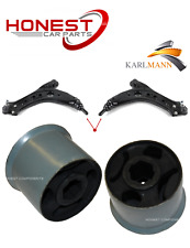 For SEAT IBIZA IV 2002-2008 FRONT WISHBONE ARM REAR BUSHS HEAVY DUTY X2 Karlmann