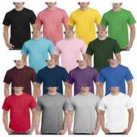 Gildan Mens Hammer Plain Crew Neck T-Shirts Tee Tshirt 100% Cotton