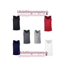 Camisetas de hombre Gildan de 100% algodón sin mangas