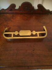 ANTIQUE VINTAGE 19C ENGLISH MINIATURE SOLID BRASS FENDER TRIVET