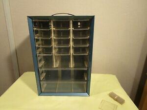 Akro-Mils 17 Drawer Blue Metal Multi Size drawer storage cabinet