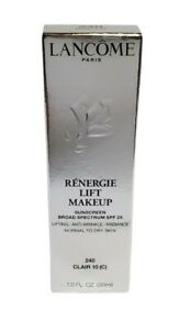 Brand New Lancome Renergie Lift Makeup Foundation SPF 20 ~ 240 Clair 10 (C)