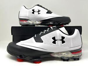 UA Under Armour Tour Tips Golf Shoes 1288575-101 White/Black Men's 7.5