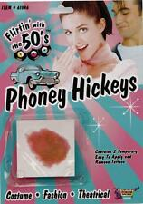 Phoney Hickey Tattoo 50's Retro Sock Hop Fancy Dress Halloween Costume Accessory
