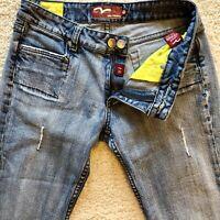 Miss Vigoss Boot Cut Distressed Jeans Medium Wash Blue Stretch Womens Size 9/10